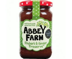 Abbey Farm Rhubarb & Ginger Preserve