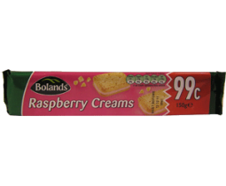 Bolands Raspberry Creams Biscuits